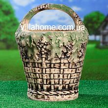 """Цветочная ваза """"Корзина"""" из шамотной глины. Высота 47 см"""