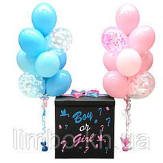 Коробка - сюрприз для  Гендер Пати (gender party)