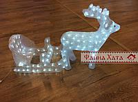 Новогодняя гирлянда для улицы, светодиодная фигура Олень с санями led 2
