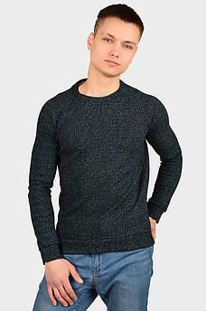 Свитер мужской черно-голубой AAA 128196S