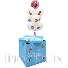 Коробка с шарами в стиле Щенячий патруль