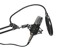Конденсаторный студийный микрофон для записи звука со стойкой и фильтром M-800U Music