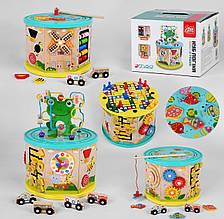 Дитячий Дерев'яний логічний куб Fun Game в коробці