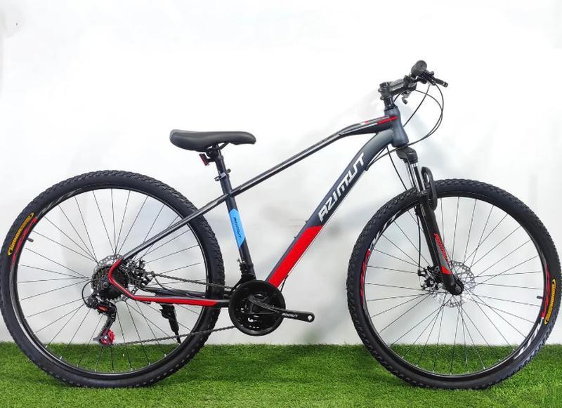 """Гірський велосипед Azimut Gemin 26"""" розмір рами 15,5"""" сіро-червоний"""