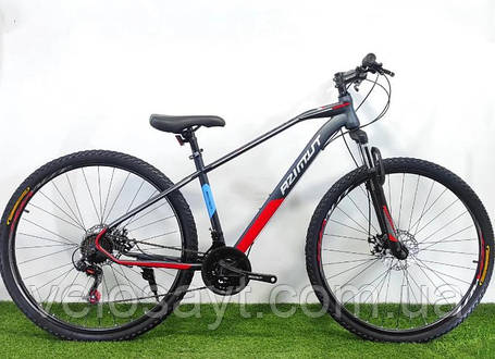 """Горный велосипед Azimut Gemin 26""""  размер рамы 15,5"""" серо-красный, фото 2"""