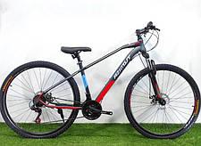 """Гірський велосипед Azimut Gemin 26"""" розмір рами 15,5"""" сіро-помаранчевий, фото 3"""