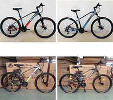 """Гірський велосипед Azimut Gemin 26"""" розмір рами 15,5"""" сіро-помаранчевий, фото 2"""