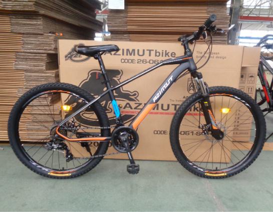"""Горный велосипед Azimut Gemin 26""""  размер рамы 15,5"""" серо-оранжевый"""
