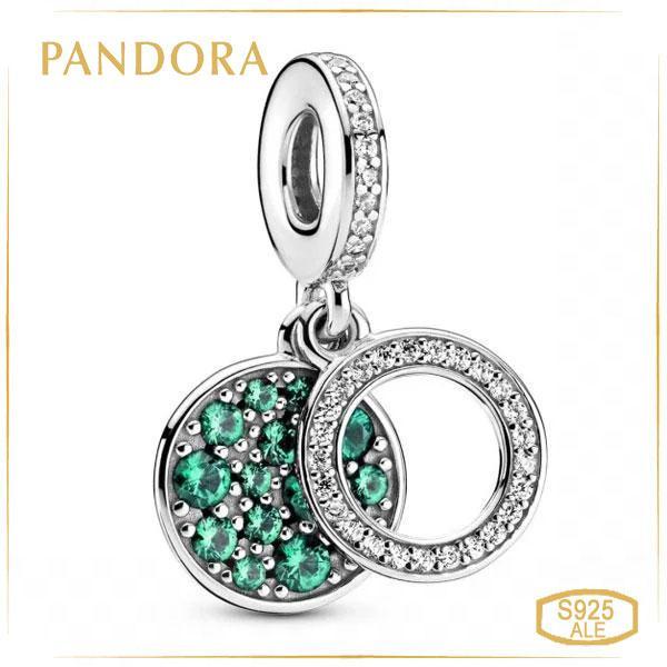 Пандора Шарм-подвеска Сверкающий зеленый диск Pandora 799186C02