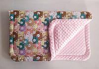 Одеяло плед ПЛЮШ детское минки MINKY, хлопок, микрофибра, дитяче покривало плед, ковдра для новонароджених