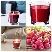 Ароматическая свеча в стакане IKEA SINNILIG 9 см х 40 часов горения декоративная ягодная ИКЕА СІНЛІГ