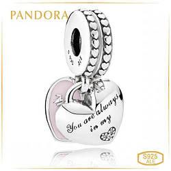 """Пандора Подвеска """"Сердца мамы и дочери"""" Pandora 792072EN40"""