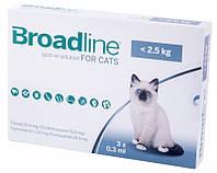 Краплі Merial Broadline Бродлайн Spot-On від бліх та кліщів для собак вагою до 2.5 кг 1шт