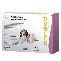 Капли Стронгхолд 6%/15мг  для щенков и котят для борьбы и профилактики блох, гельминтов и клещей Zoetis 1