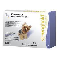 Капли Стронгхолд 12%/30мг  для собак 2,5-5 кг для борьбы и профилактики блох, гельминтов и клещей Zoetis