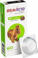 Жевательная таблетка Бравекто от блох и клещей для собак 10 - 20 кг