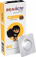 Жувальна таблетка Бравекто від бліх та кліщів для собак 2 - 4.5 кг (8713184146502 / 8713184139276)