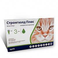 Капли Стронгхолд Плюс60мг/10мг на холку против блох для кошек Zoetis 5-10 кг  Stronghold Plus 1 пипетка