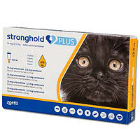 Капли Стронгхолд  Zoetis Stronghold Plus 15 мг/2,5 мг против паразитов у кошек весом до 2.5 кг, 0.25 мл (1