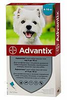 Краплі Bayer Адвантікс від заражень екто паразитами для собак 4-10 кг 4 піпетки (4007221037279/4007221047230), фото 1