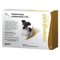 Капли Стронгхолд 12% /60мг  для собак от 5-10 кг для борьбы и профилактики паразитов, блох, гельминтов и