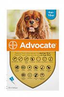 Капли Bayer Адвокат от заражений эндо и экто паразитами для собак 4-10 кг 3 пипетки (4007221037392)