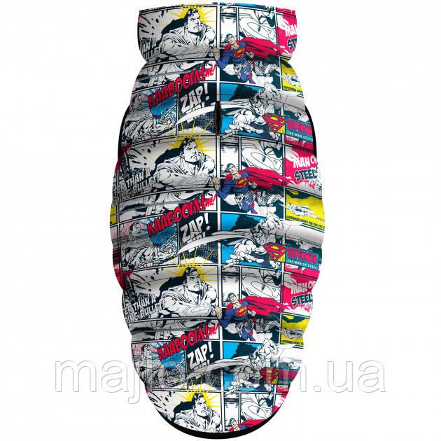 """Waudog куртка для собак Мультисезонная """"Supermen comics"""", розмір S35, 0935-4006"""