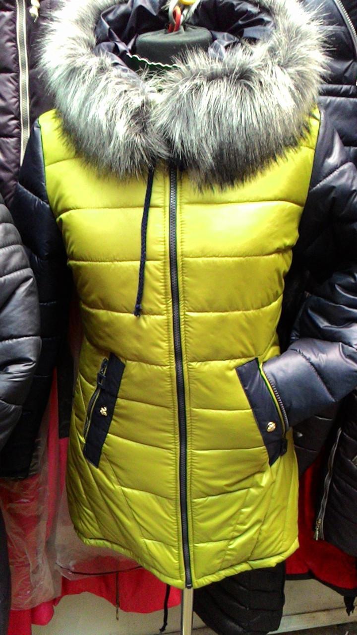 Зимняя куртка с мехом Кристи лайм