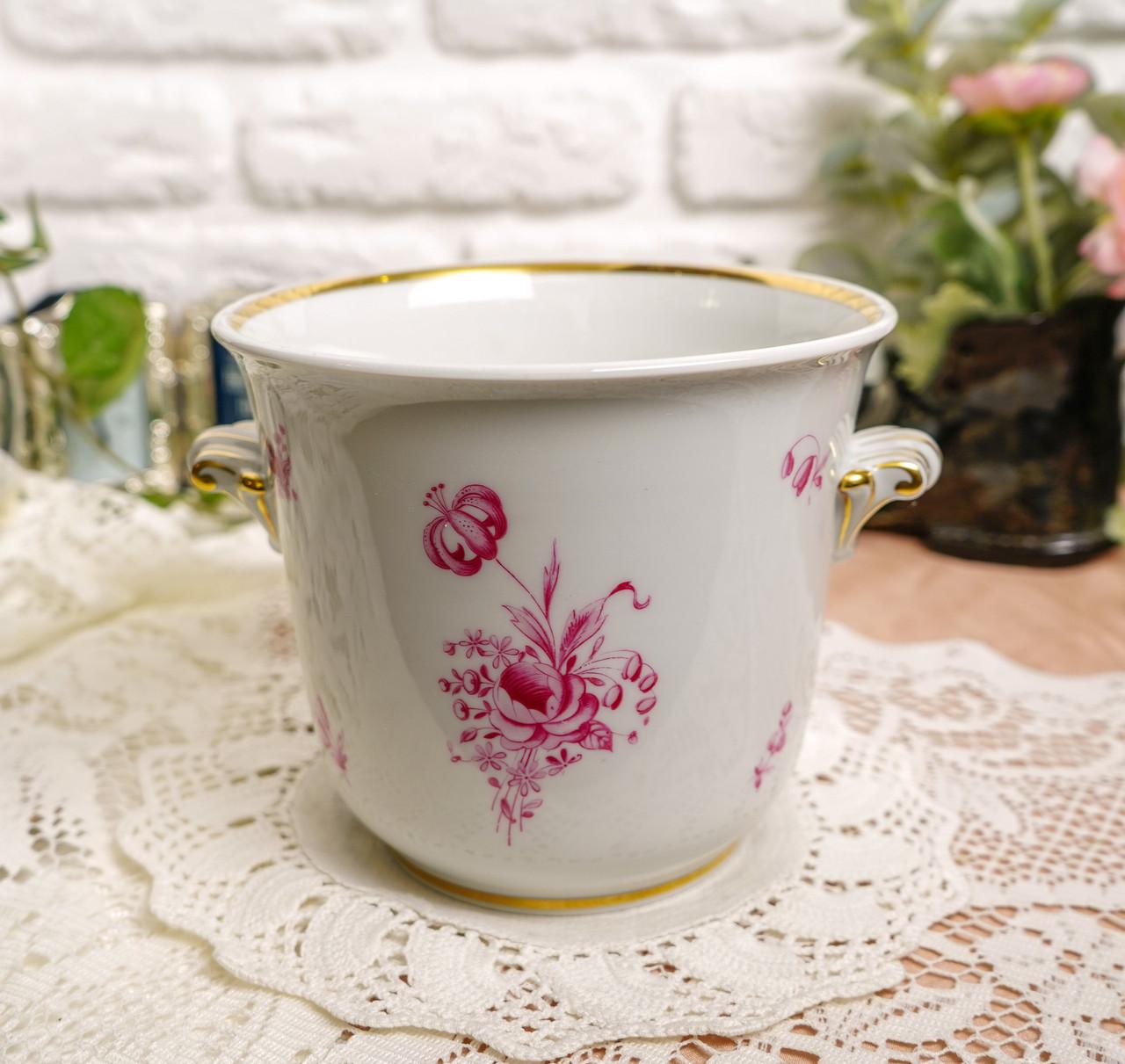 Винтажная фарфоровая ваза под цветочный горшок, кашпо, фарфор, Hutschenreuther, Германия, винтаж