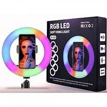 Кольцевая светодиодная RGB LED лампа MJ20 диаметром 20 см, 16 цветов