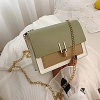 Женская сумочка кросс-боди оливковая