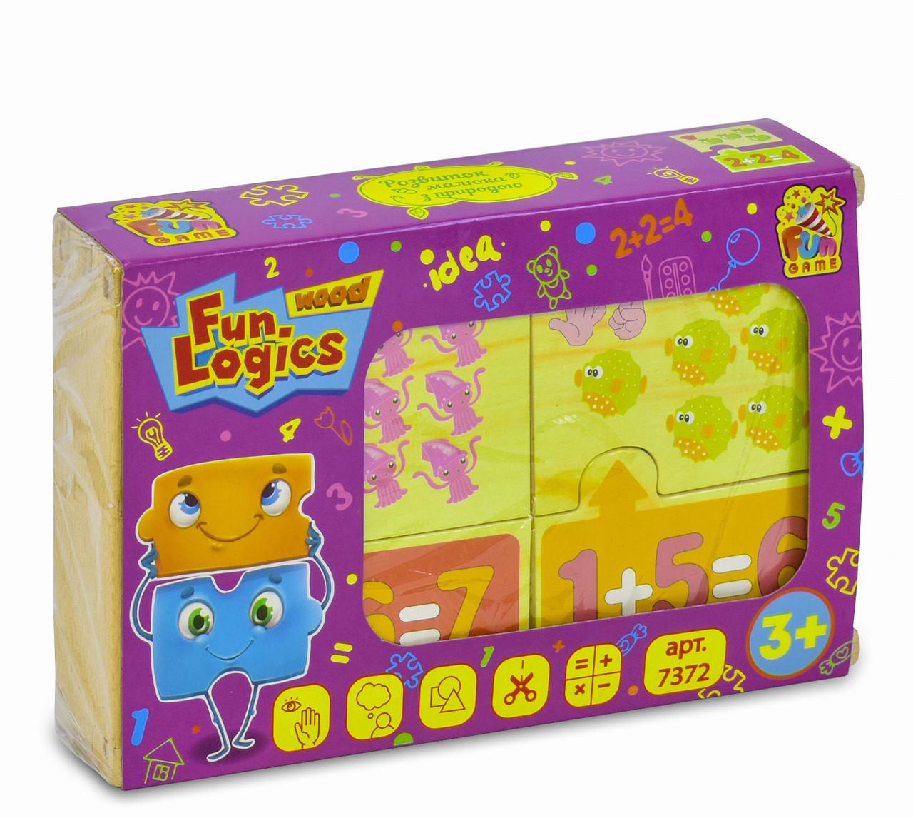 Детские Деревянные пазлы Математика FUN GAME