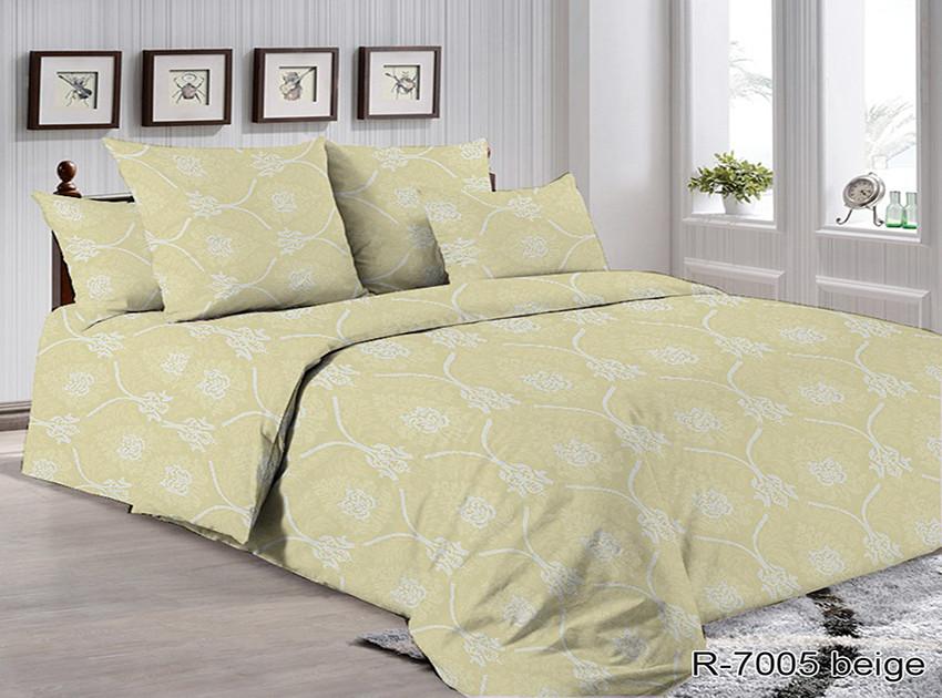 Двоспальний комплект постільної білизни Ранфорс R7005 beige