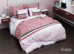 Двуспальный Евро комплект постельного белья Ранфорс  R4053
