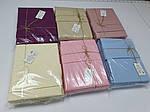 Льняна постільна білизна Полуторний комплект Рожевий №1402 льон ., фото 2