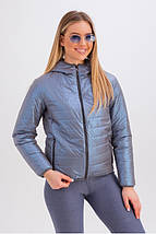 Короткая куртка с капюшоном на весну-осень   рр 42-48, фото 2