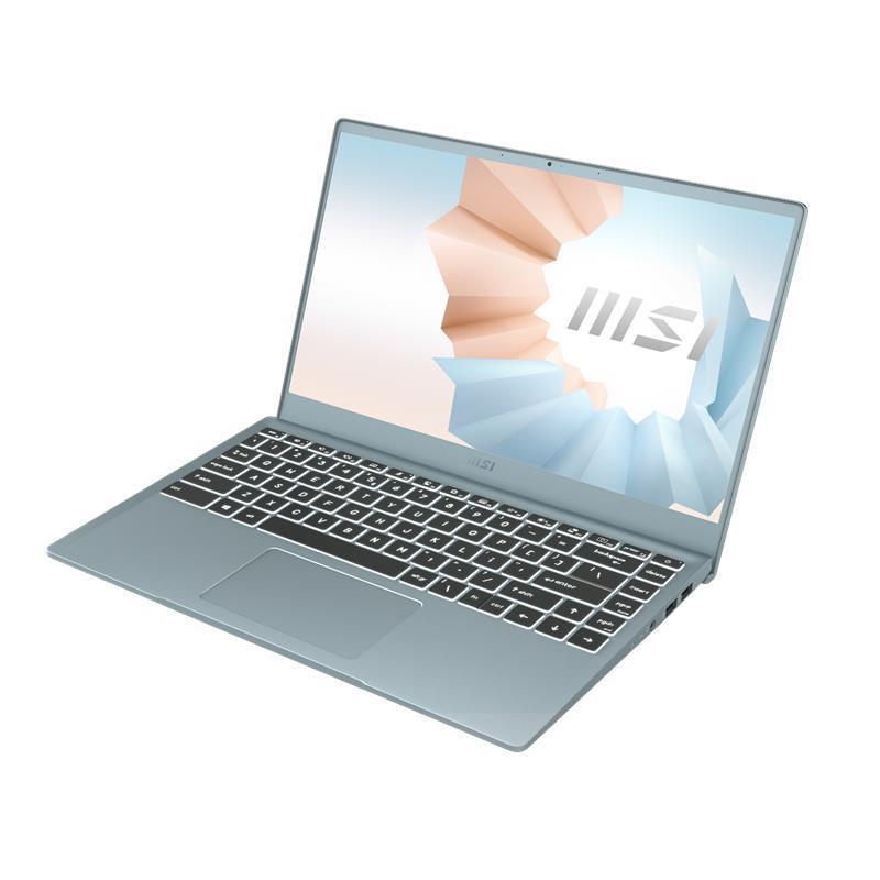 Ноутбук MSI Modern 14 14FHD IPS/Intel i3-10110U/8/256F/Int/DOS/Blue