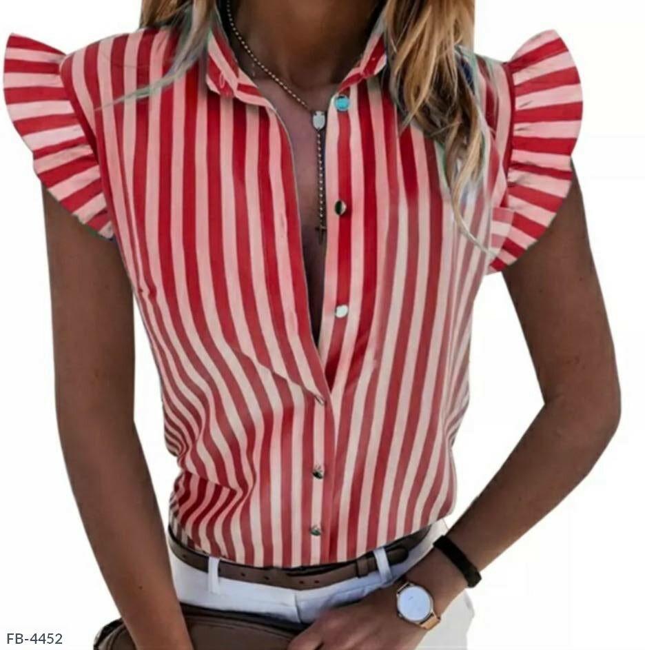 Женская блуза рукава-крылья в полоску