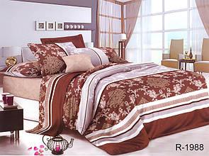 Двуспальный Евро комплект постельного белья Ранфорс  R1988