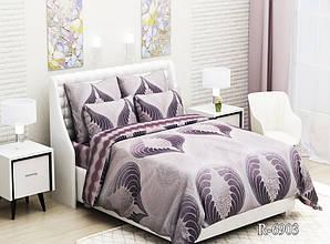 Двуспальный комплект постельного белья Ранфорс  с компаньоном R6903