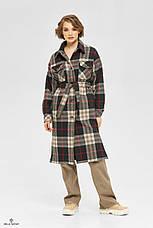 Демисезонное женское пальто-рубашка на подкладке, фото 3