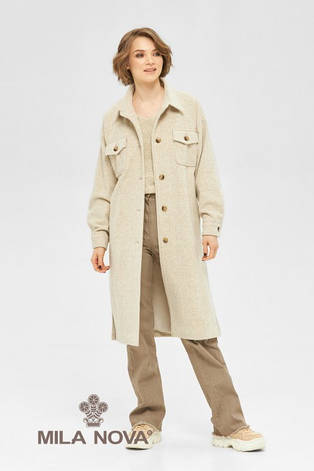 Демисезонное женское пальто-рубашка на подкладке, фото 2
