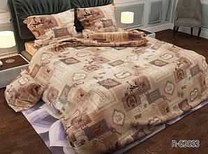 Двоспальний Євро комплект постільної білизни Ранфорс RG2033