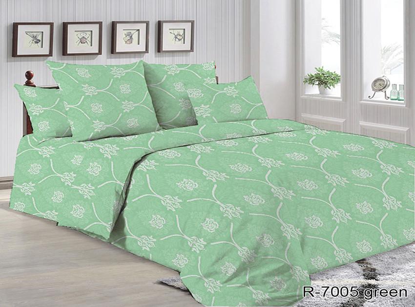 Двоспальний комплект постільної білизни Ранфорс R7005 green