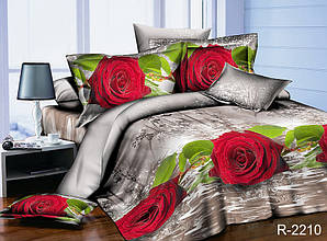 Двуспальный Евро комплект постельного белья Ранфорс  R2210