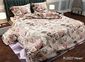 Двуспальный комплект постельного белья Ранфорс R2027 Heart