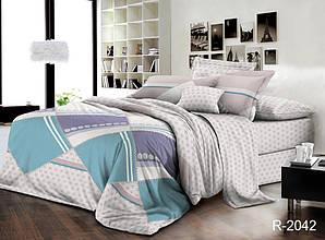 Двуспальный Евро комплект постельного белья Ранфорс  R2042