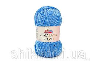 Плюшевая пряжа Нimalaya Velvet, колір Волошка