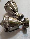 Карниз для штор металевий ЕТЕРНІЯ подвійний 25+19мм 2.0м Колір Сталь, фото 2