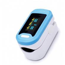 Пульсоксиметр портативний YONKER YK-81A на палець для вимірювання пульсу і сатурації крові з батарейками